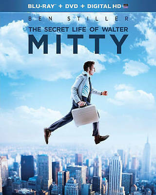 The Secret Life of Walter Mitty BLURAY DVD + DIGITAL COPY NEW! USA RELEASE!