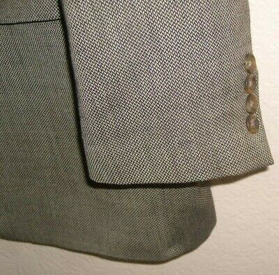 Mens 46L CHAPS RALPH LAUREN 3 Btn Wool Sport Coat Blazer Tan & Black Patterned