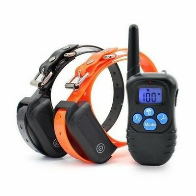 Waterproof Rechargeable Dog Training Collar Shock  Electric Remote for 2 dog