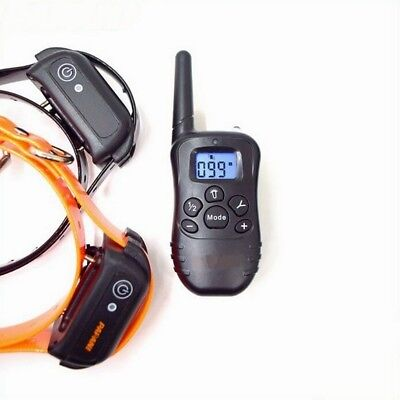 330Yard LED Electric Shock Dog Training Collar Rechargeable Remote Control P998D