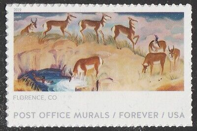 US 5373 Post Office Murals Florence CO forever single (1 stamp) MNH 2019