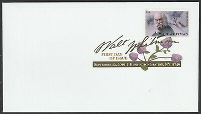 US 5414 Literary Arts Walt Whitman DCP FDC 2019 after Sep 15