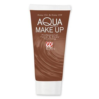 Brown Aqua Makeup In Tube 30ml For Fancy Dress Accessory - Make Up Widmann Ad