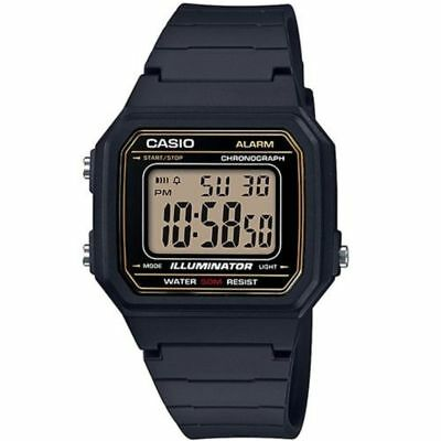 Casio W217H-9AV, Chronograph Watch, Black Resin Band, Alarm, Illuminator