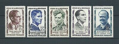 FRANCE - 1957 YT 1100 à 1104 - TIMBRES NEUFS** MNH LUXE