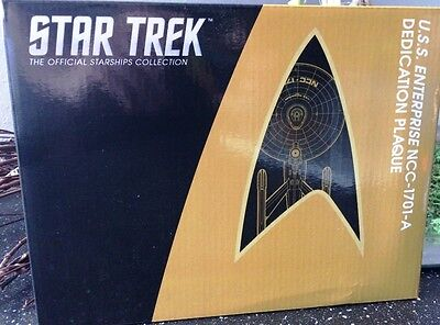 U.S.S. Enterprise NCC-1701-A Star Trek Plakette Dedication Plaque Replica - Neu