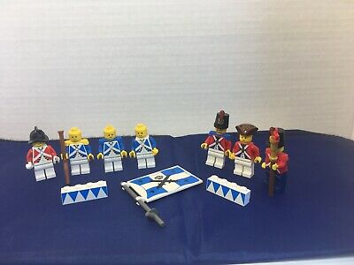 Lot 1A113 Lot of 4 LEGO Bluecoat /& Redcoat US Revolution Infantry Minifigures