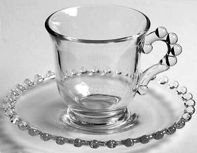 Imperial Glass Ohio CANDLEWICK CLEAR (STEM #3400) Demitasse Cup & Saucer 236807