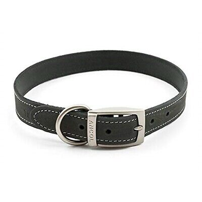 Ancol Timberwolf Leather Dog Collar, 50-59 Cm, Grey - Collar Puppy Lead Sable