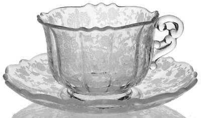 Cambridge ROSE POINT CLEAR 3900 Cup & Saucer Set 5434355