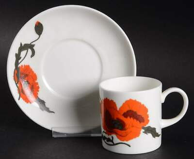Wedgwood CORNPOPPY (SUSIE COOPER) Can Demitasse Cup & Saucer 903383