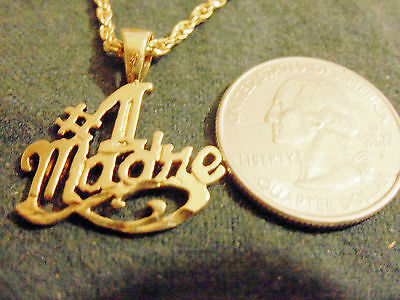 bling gold plated MEXICO MOM #1 mad`re pendant charm hip hop necklace JEWELRY GP