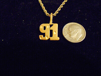 bling gold plated sports PLAYER number 91 pendant charm hip hop necklace JEWELRY