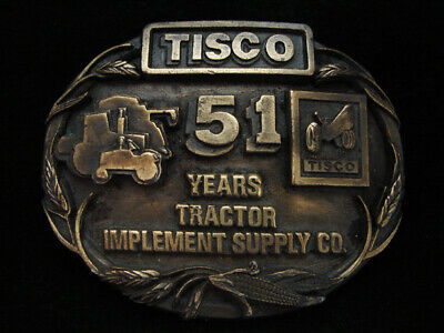 Oa01126 Vintage 1988 **Tisco 51 Years Tractor Implement Supply Co** Belt Buckle