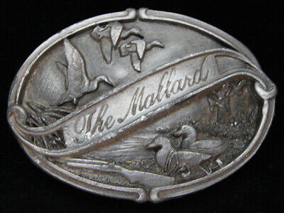 Oc19105 Vintage 1986 **The Mallard** Duck Commemorative Pewter Bergamot Buckle