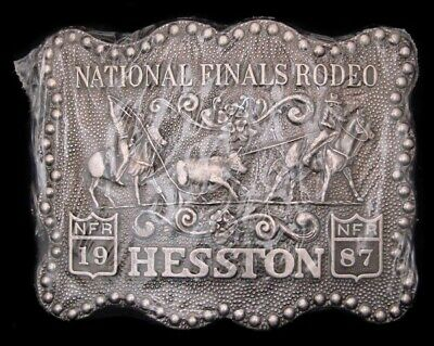 Oc10113 *Nos* Nfr ***1987 National Finals Rodeo*** Hesston Collector Buckle