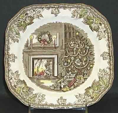 Johnson Brothers CHRISTMAS FRIENDLY VILLAGE Square Salad Plate 996198