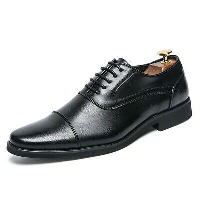 a6050ff6040 British Mens Pointy Toe Dress Formal Lace Up Oxfords Business Casual Derby  Shoes