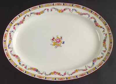 "Minton MINTON ROSE (GLOBE BACKSTAMP). 15 1/4"" Oval Serving Platter 333258"