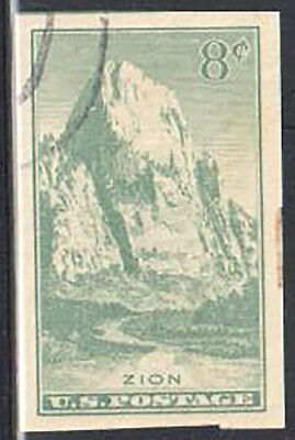 SC#763 -  National Parks Great White Throne, Zion Park Used Hinged