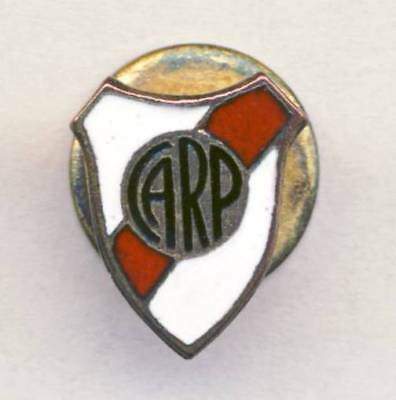 old CA RIVER PLATE Football club PIN BADGE Soccer ARGENTINA Button Hole Badge