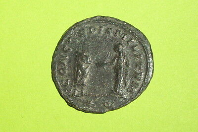 Aurelian 270 AD ancient ROMAN COIN clasping hands Concordia excellent vg vf old