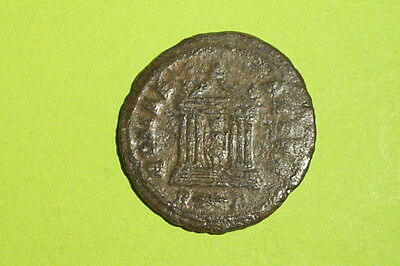 Probus 276AD ancient ROMAN COIN temple Roma antique VG-VF goddess Rome very good