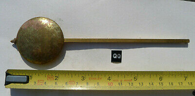 qq) MANTEL clock pendulum chiming/striking Vintage longer brass unusual design.
