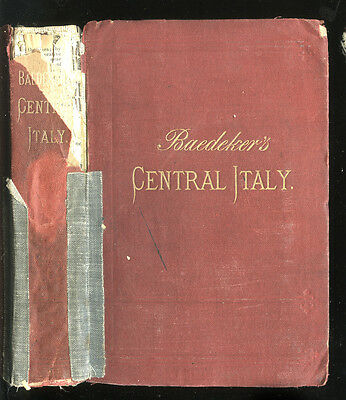 1886 Baedeker's Guide to Central Italy, Handbook for Travelers, 9th Ed, Maps