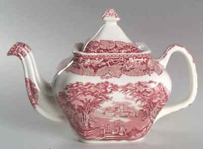 Mason's VISTA PINK Square Gadroon Tea Pot 5826023