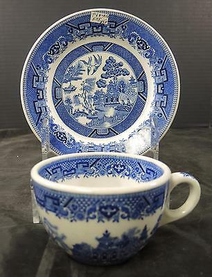 Shenanago Cup & Salad Plate * Blue Willow Pattern