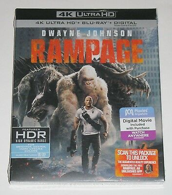 Action 4K Ultra HD - Rampage (4K Ultra HD Blu-ray) NEW