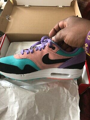 sale retailer 2d340 f82a3 Nike Air Max 1 ND Have A Nike Day Purple Black Coral Running Shoes BQ8929-