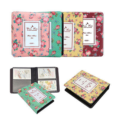 64 Pockets Printed Photo Album For Fuji Film Instax Mini Polaroid Camera Gift US