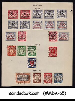 Germany State Danzig - 1923-27 Selected Stamp/ Coat Of Arms - 23V