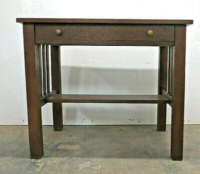 Antique Mission Arts & Crafts Stickley Style Library Desk Quarter Sawn White Oak
