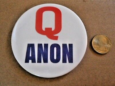 5 Lot Of Patriotic Qanon Button Pin Q Anon Big 3.5 Inch Buttons Great Awakening