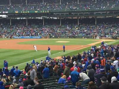 2 Tickets Chicago Cubs Los Angeles Dodgers Section 204 Row 3 4/25 Wrigley Field