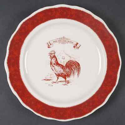 Country Living RED FRIENDS Salad Plate 8193286