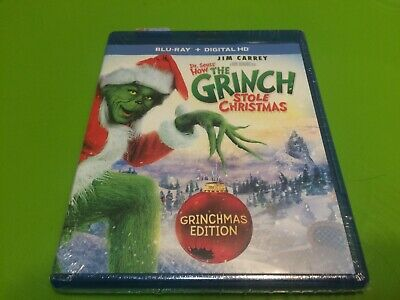Dr. Seuss' How the Grinch Stole Christmas (Blu-ray Disc, DIGITAL 2015) NEW