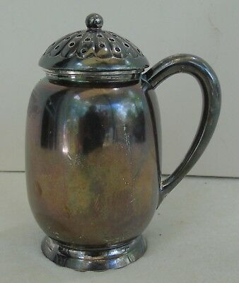 Antique Meriden Co Quadruple Silver Plate Sugar Shaker