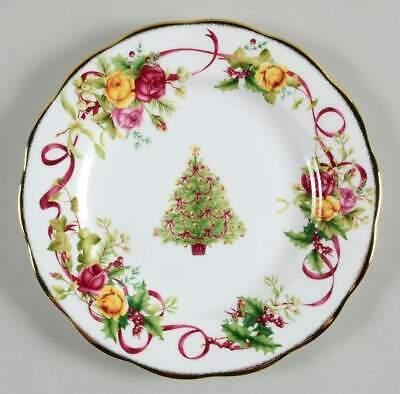 Royal Albert OLD COUNTRY ROSES CHRISTMAS TREE Salad Plate 9508140