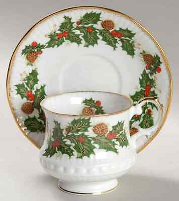 Rosina Queens YULETIDE (SCALLOPED) Eros Cup & Saucer 5447513