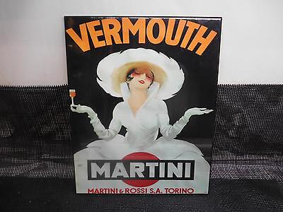 Old Vtg MARTINI & ROSSI VERMOUTH Advertising Bar SIGN Mancave decor Wall Hanging