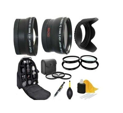 Accessory Kit (Lens Filters Backpack) For Canon EOS T7 T100 2000D 3000D 4000D