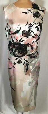 8560ee29e5c7 NWT ST. JOHN Knits Graphic Rose Stretch Silk Charmeuse Dress sz 8 $1090