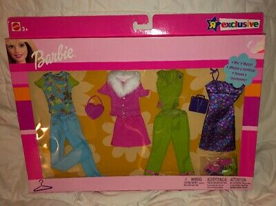 Barbie Doll Fashion Mix & Match Gift Set 4 NEW with Purses & Shoes NRFB 2003 NIP
