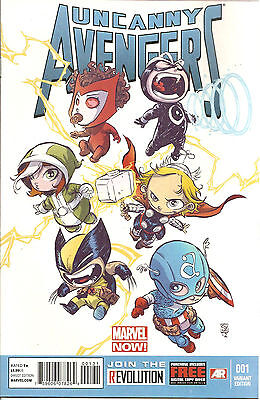 Uncanny Avengers   #1   Skottie Young Baby  Variant  Cover  Marvel Now