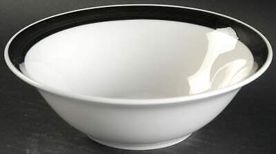 Gibson Designs ESSEX BLACK Soup Cereal Bowl 10390313