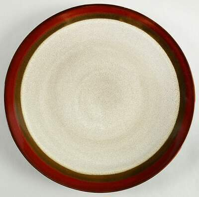Gibson Designs COUTURE BANDS RED Dinner Plate 10003079